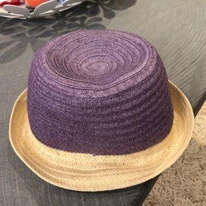 c0855e90c4863 Color block Ann Taylor LOFT straw weave hat